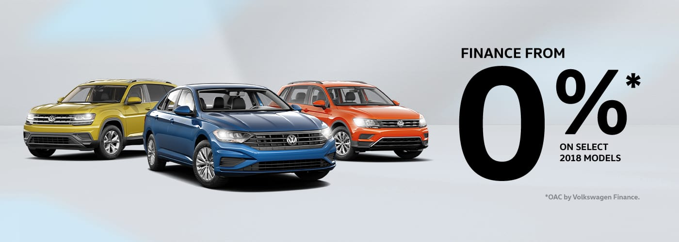 Finance from 0% for up to 72 months* on select 2018 models